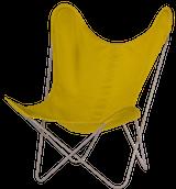 Stoff gelb Gestell grau