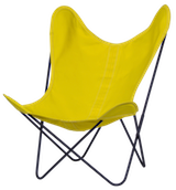 Stoff gelb Gestell schwarz