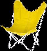 Stoff gelb Gestell weiss